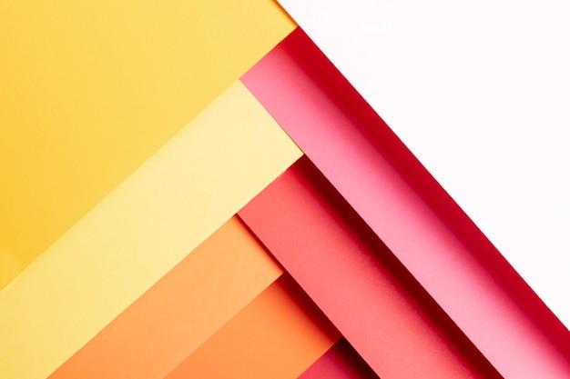 Padrão de cores na diagonal quente