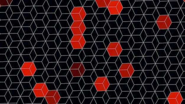 Padrão de cubos, fundo abstrato. estilo geométrico dinâmico elegante e luxuoso para ilustração 3d empresarial