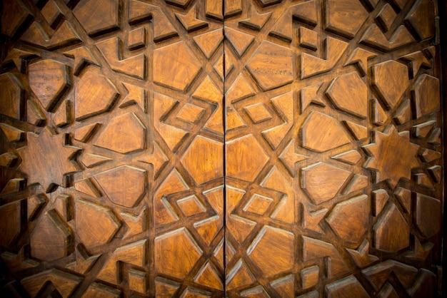 Padrão de escultura em madeira