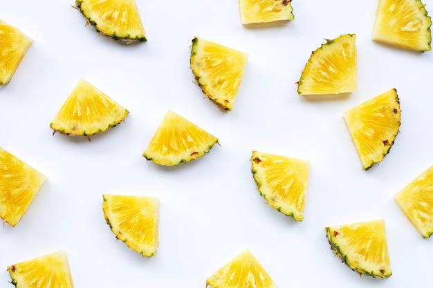 Padrão de fatias de abacaxi fresco