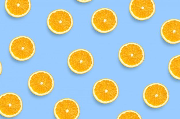 Padrão de fatias de laranja frescas