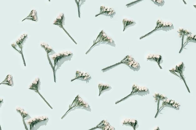Padrão de flores naturais secas