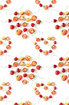 Padrão de frutas frescas de frutas orgânicas sazonais