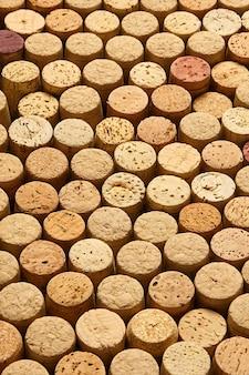 Padrão de fundo de rolhas de garrafas de vinho