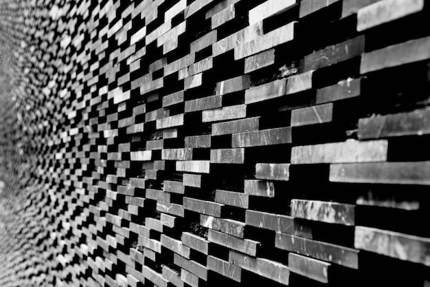 Padrão de fundo decorativo parede de mármore preto