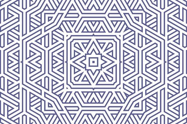 Padrão de fundo geométrico clássico com linhas azuis em branco, ilustração de ornamento de decoração. listras de linha reta azul simples de diferentes formas de design