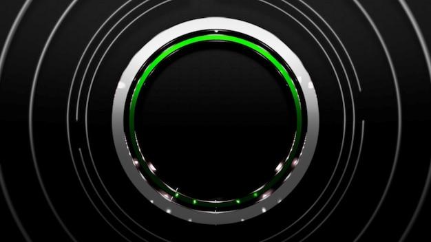 Padrão de grandes círculos preto e verde, fundo abstrato. estilo neon dinâmico elegante e luxuoso para negócios, ilustração 3d