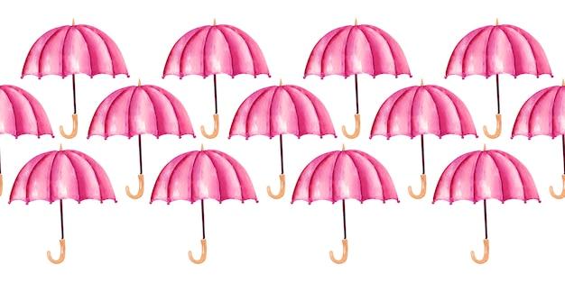 Padrão de guarda-chuva em aquarela