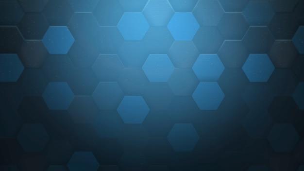 Padrão de hexágono escuro de movimento, fundo abstrato. estilo geométrico dinâmico elegante e luxuoso para negócios, ilustração 3d