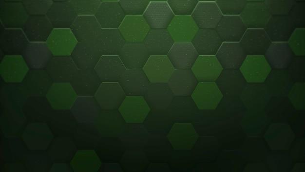 Padrão de hexágono escuro, fundo abstrato. estilo geométrico dinâmico elegante e luxuoso para negócios, ilustração 3d