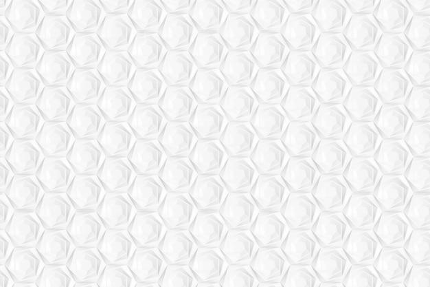 Padrão de hexágonos e círculos baseados em grade hexagonal