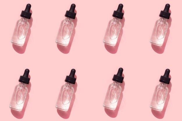 Padrão de hialurônio. cosmetologia. cuidados com a pele. foto perfeita. artigo sobre cuidados com a pele.