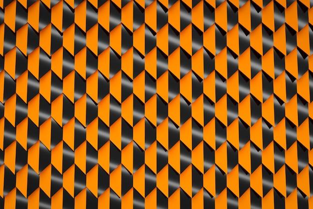 Padrão de ilustração 3d laranja em estilo ornamental geométrico.