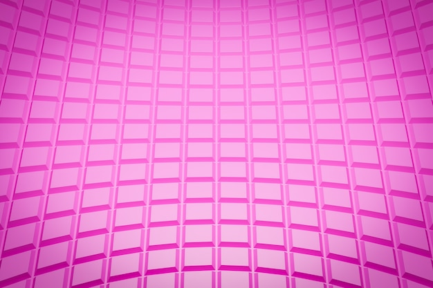 Padrão de ilustração 3d rosa, célula em estilo ornamental geométrico de listras.