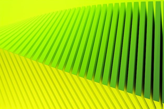 Padrão de ilustração 3d verde em estilo ornamental geométrico.
