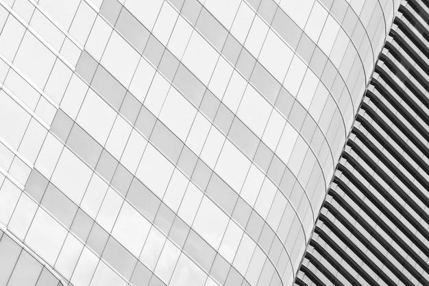 Padrão de janelas de vidro moderno edifício arranha-céus