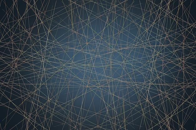 Padrão de linha poligonal dourada em estilo art déco contemporâneo moderno
