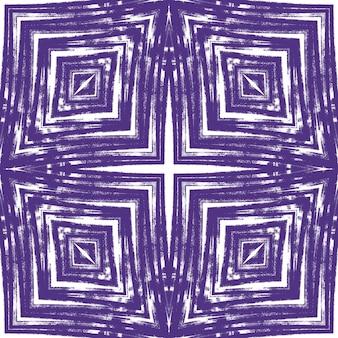 Padrão de listras texturizadas. fundo roxo caleidoscópio simétrico. impressão artística pronta para têxteis, tecido para biquínis, papel de parede, embrulho. design moderno de listras texturizadas.