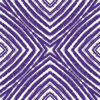 Padrão de listras texturizadas. fundo roxo caleidoscópio simétrico. têxtil pronto para impressão, tecido de maiô, papel de parede, embalagem. design moderno de listras texturizadas.