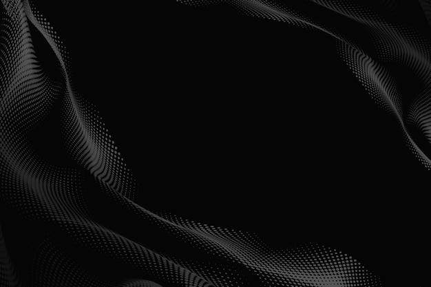 Padrão de meio-tom em um fundo preto