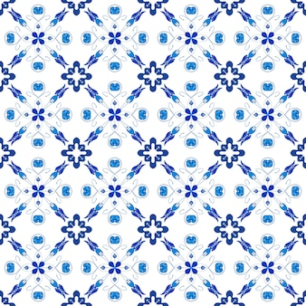 Padrão de mosaico abstrato azul sem costura para o fundo