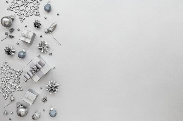 Padrão de natal, presentes e decorações de ano novo
