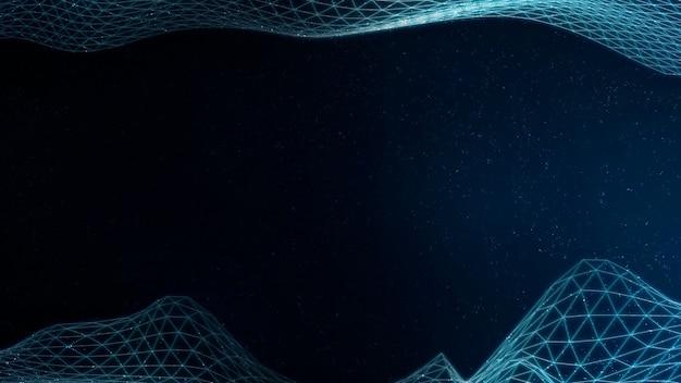 Padrão de onda abstrato 3d azul claro