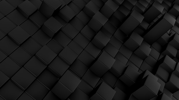 Padrão de ondas minimalistas feito de cubos.