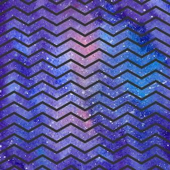Padrão de ondas na textura do espaço, fundo abstrato. ilustração geométrica simples