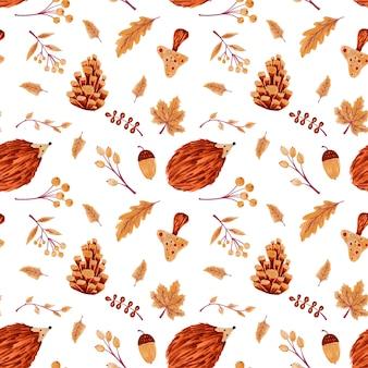 Padrão de outono sem emenda