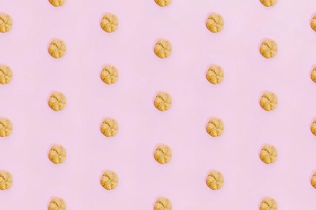 Padrão de padaria com biscoitos assados