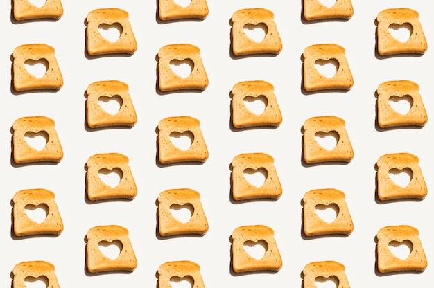 Padrão de padaria com pão assado