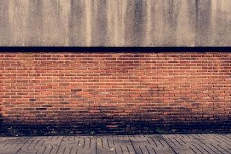 Padrão de papel de parede laranja de parede de tijolo