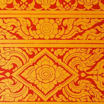 Padrão de parede de arte tailandesa