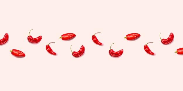 Padrão de pimentão vermelho quente leigos plana