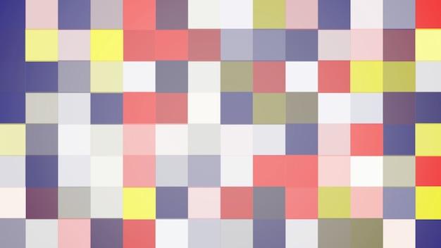 Padrão de pixel colorido, fundo abstrato. estilo geométrico dinâmico elegante e luxuoso para negócios, ilustração 3d