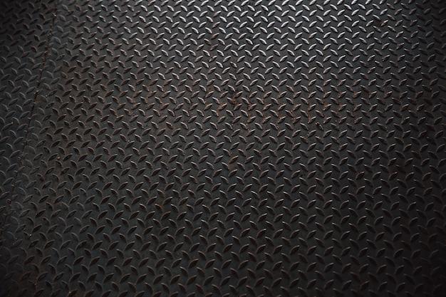 Padrão de placa de pavimento de aço metal brilhante velho grunge de uma tampa de bueiro