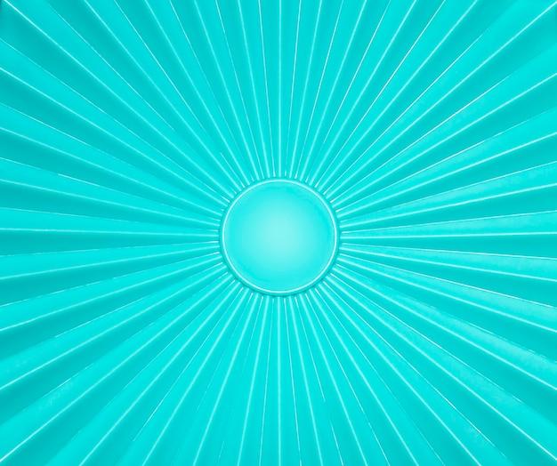 Padrão de raios de superfície plástica verde