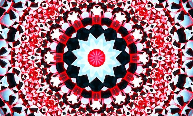 Padrão de renda redonda ornamentais. círculo de coral do caleidoscópio.