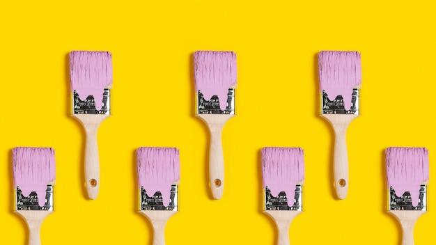 Padrão de renovação de pintura escova abstrata