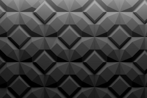 Padrão de repetição simétrico com formas geométricas
