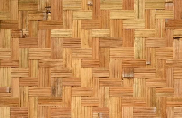 Padrão de tecelagem de bambu