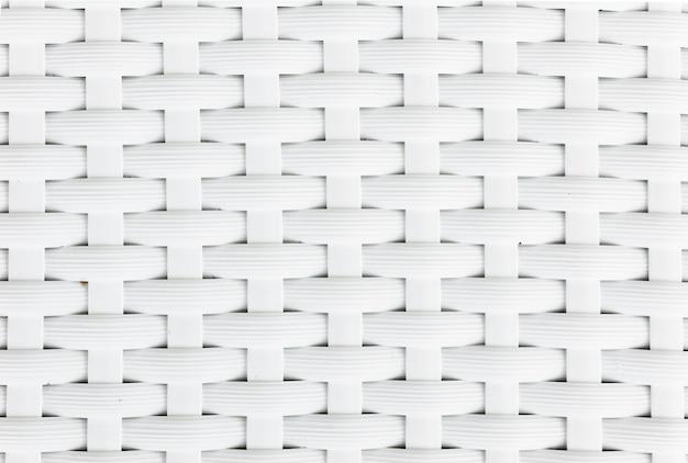Padrão de tecer cesta branca