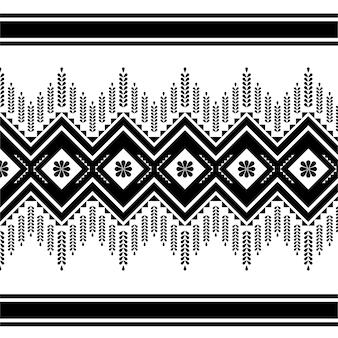 Padrão de tecido para fundo preto e branco