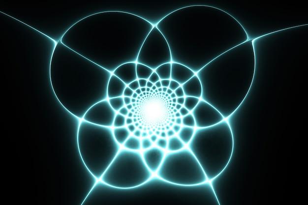Padrão de teia de aranha. desenho fractal abstrato.