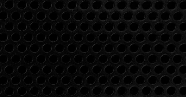 Padrão de textura de malha metálica preta abstrata textura de metal preto em branco para designers
