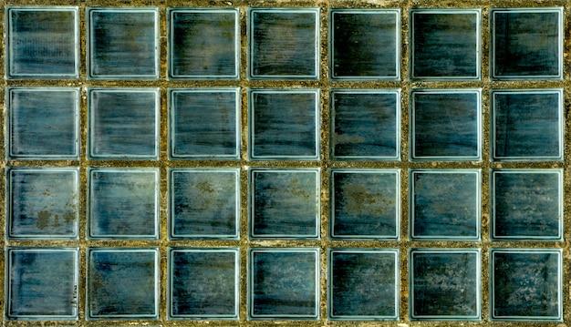 Padrão de textura de parede de bloco de vidro e fundo