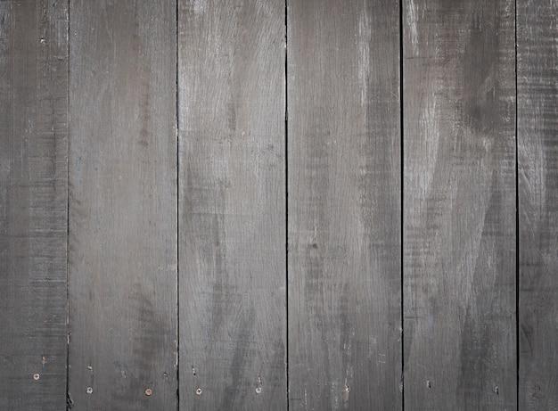 Padrão de textura de prancha de madeira preta envelhecida e fundo em tom escuro.