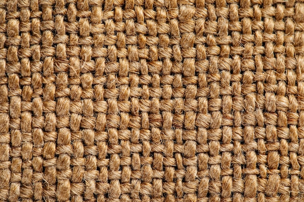 Padrão de textura de tecido de juta de saco de farinha marrom
