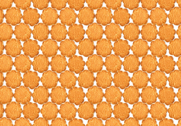 Padrão de textura sem costura com biscoitos de fubá doce